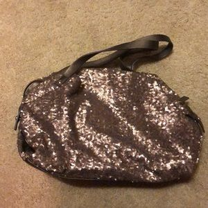 Bronze sequined purse
